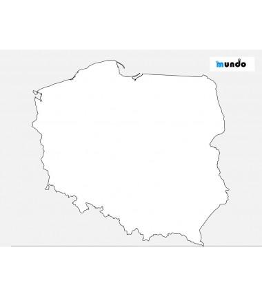 Mapa Świata - 65 x 50 cm -...