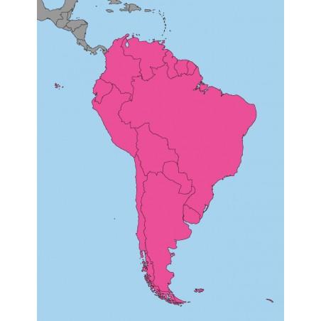 Ameryka Południowa - 130x 100 cm - mapa polityczna Montessori