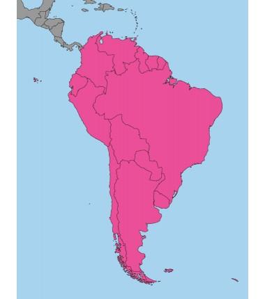 Ameryka Południowa - 50 x 65 cm - mapa polityczna Montessori