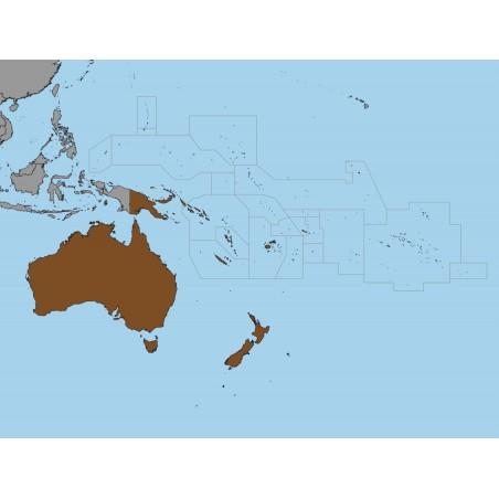 Australia i Oceania - 130 x 100 cm - mapa polityczna Montessori