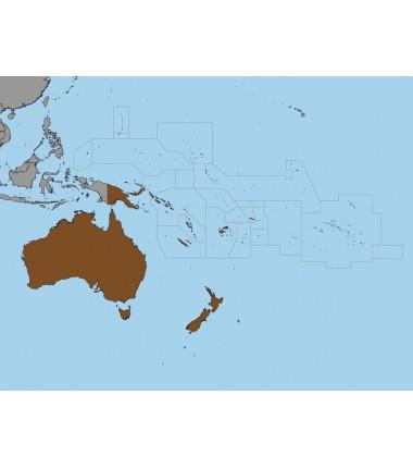 Australia i Oceania - 65 x 50 cm - mapa polityczna Montessori