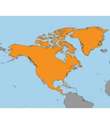 Ameryka Północna - 50 x 65 cm - mapa Montessori