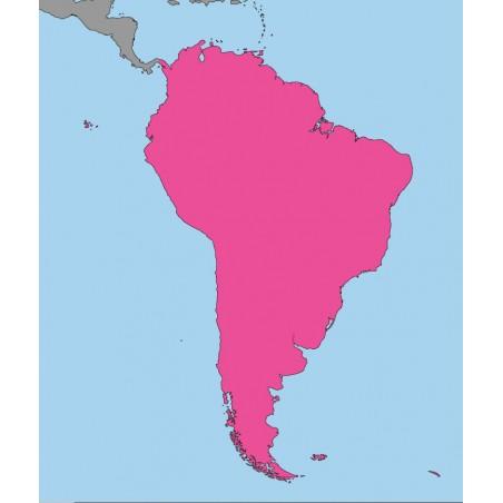Ameryka Południowa - 50 x 65 cm - mapa Montessori