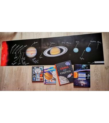 Obiekty w Układzie Słonecznym - zmywalna mata - 44 x 160 cm