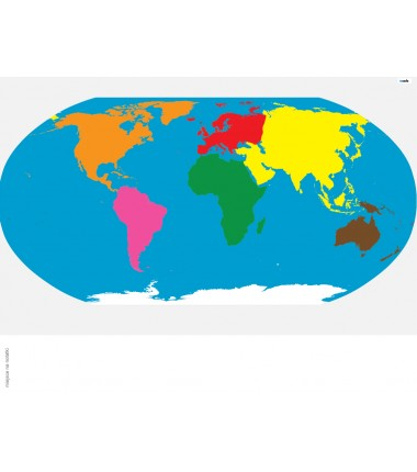 Mapa Świata - 40 x67 cm - mata Montessori