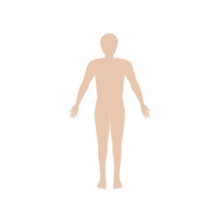 sylwetka męska - zmywalna mata do wyklejania - 67x40 cm