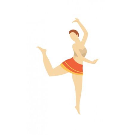 Tancerka- zmywalna mata do wyklejania - 67x40 cm