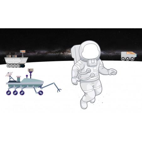 eksploracja planety - zmywalna mata do wyklejania - 67x40 cm