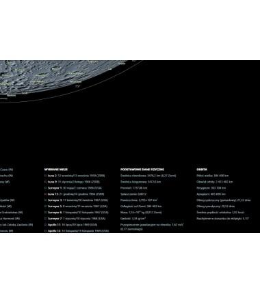 Księżyc po polsku - ukształtowanie powierzchni - 47 x 67 cm