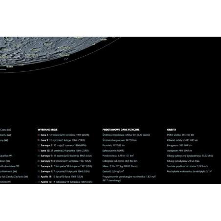 Księżyc po polsku - ukształtowanie powierzchni -  135 x 192 cm