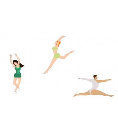 Taniec  - zmywalna mata do wyklejania - 67x40 cm