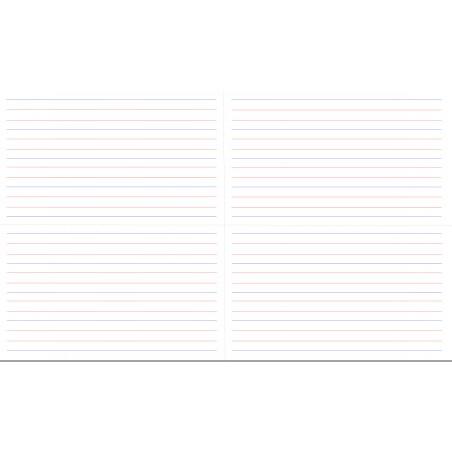 liniatura - 40 x 67 cm - zmywalna mata do nauki pisania (4 arkusze)