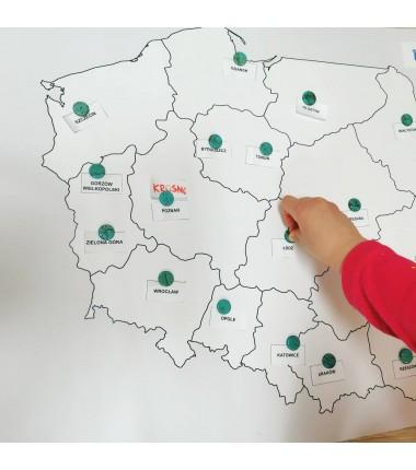 OKAZJA -  Mapa Polski - 50 x 65 cm - mapa administracyjna