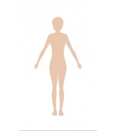 OKAZJA - sylwetka damska - zmywalna mata do wyklejania - 67x40 cm