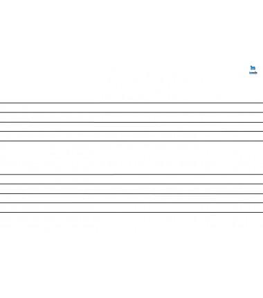 pięciolinia - zmywalna mata do nauki czytania i zapisu nut (podwójna) - 40 x 30 cm