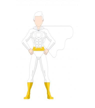 Super bohater - zmywalna mata do wyklejania - 67x40 cm