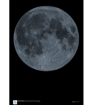 Księżyc - wersja bez szczegółowych napisów- 47 x 67 cm