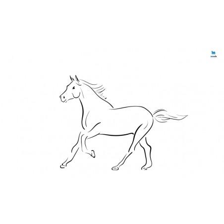Koń - zmywalna mata do wyklejania - 67x40 cm