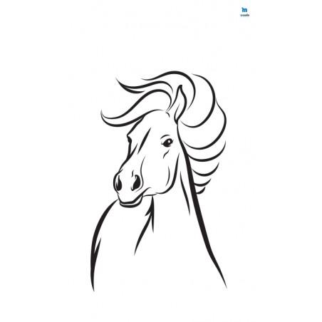 Głowa konia - zmywalna mata do wyklejania - 67x40 cm