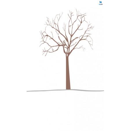 Drzewo(1)- zmywalna mata do wyklejania - 67x40 cm