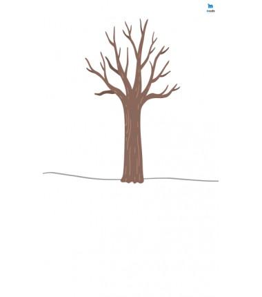Drzewo(2)- zmywalna mata do wyklejania - 67x40 cm