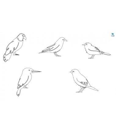 Ptaki (1) - zmywalna mata do wyklejania - 67x40 cm