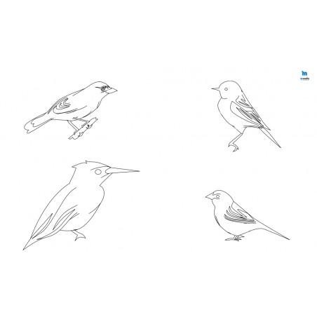 Ptaki (2) - zmywalna mata do wyklejania - 67x40 cm