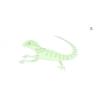 Jaszczurka - zmywalna mata do wyklejania - 67x40 cm