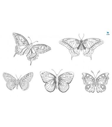 motyle - zmywalna mata do wyklejania - 67x40 cm - wersja cieniowana