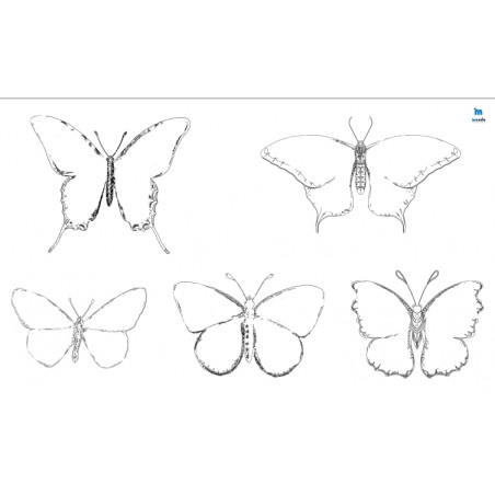 motyle - zmywalna mata do wyklejania - 67x40 cm - wersja uproszczona