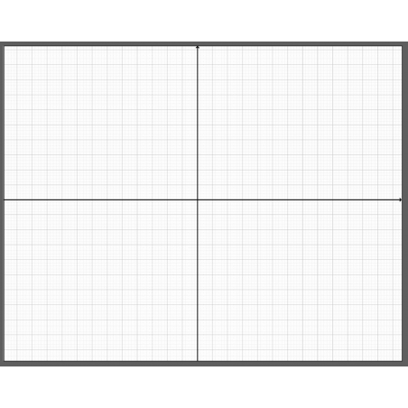 Układ współrzędnych - zmywalna mata 65 x 50 cm