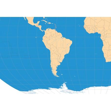 Polityczna mapa świata 135 x 80 cm - siatka kartograficzna, podział polityczny, stolice