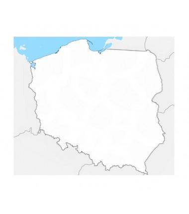 Mapa Polski - 100 x 130 cm - mapa konturowa, tło