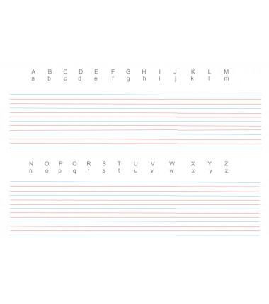 Mata do nauki pisania - alfabet angielski, linie pomocnicze - 65 x 50 cm