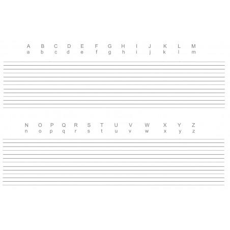 Mata do nauki pisania - alfabet angielski - 65 x 50 cm