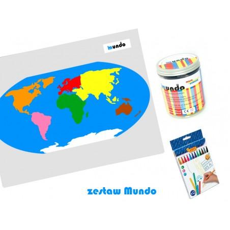 copy of ZESTAW MUNDO - mała Mapa Świata Montessori + Masa Plastyczna