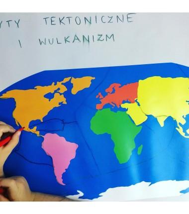 ZESTAW - mapa świata Montessori 130x100 cm + masa plastyczna Mundo + pisaki Jovi 24 sztuk