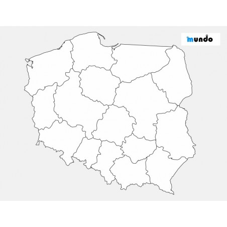 Poland - Administrative washable map - 65x50 cm
