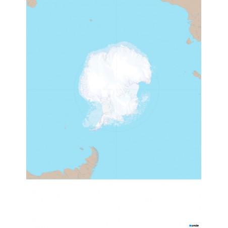 Antarktyda (otoczenie kontynentu) - 50 x 65 cm