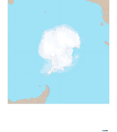 Antarktyda (otoczenie kontynentu) - 130x100 cm