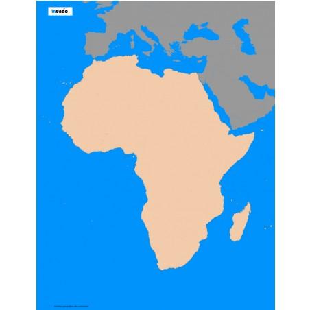 Afryka - 50 x 65 cm - mapa konturowa, granica geograficzna