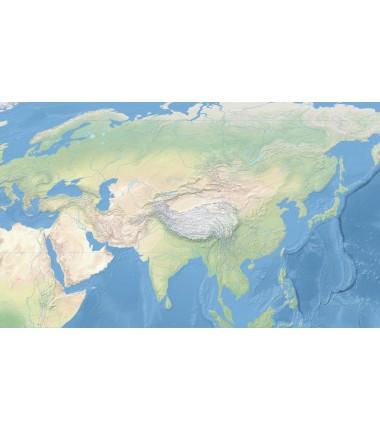 Krajobrazowa mapa świata - Ocean Spokojny - 40x67 cm