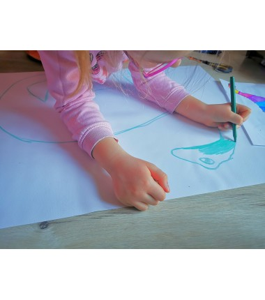 Biała mata do rysowania i wyklejania - 65 x 50 cm