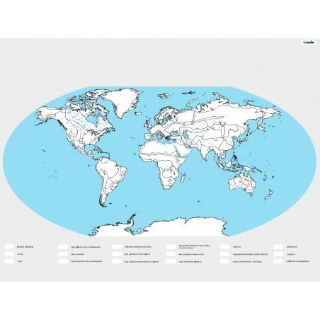 Mapa Świata BIOMY - kolorowanka - 65 x 50 cm