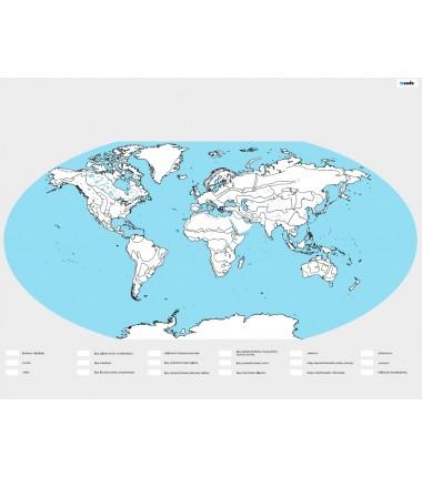 Mapa Świata BIOMY - kolorowanka -135 x 200 cm