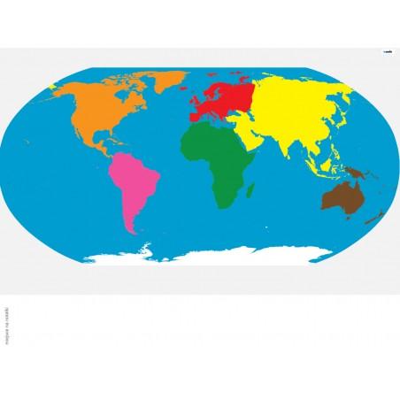 Mapa Świata - 100 x 130 cm - mata Montessori