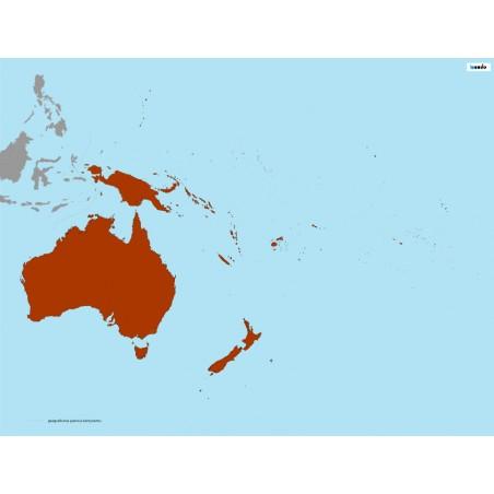 Australia - mapa Montessori - 65 x 50 cm