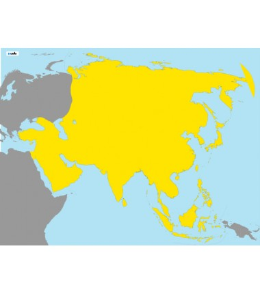 Asia - washable Montessori map 65 x 50 cm