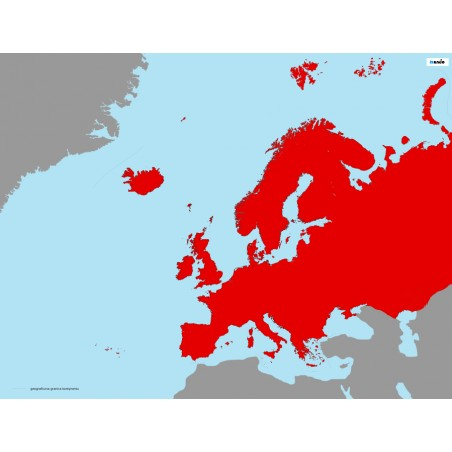 Europa - 50 x 65 cm - mapa Montessori