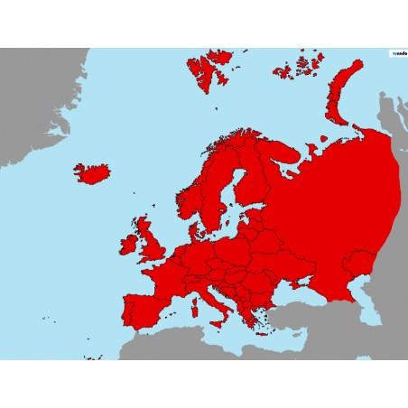 Europa - 50 x 65 cm - mapa polityczna Montessori
